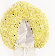 Funeral wreath - Chrysanthemums